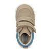 Hnedé detské tenisky z brúsenej kože bubblegummers, béžová, 116-2634 - 17