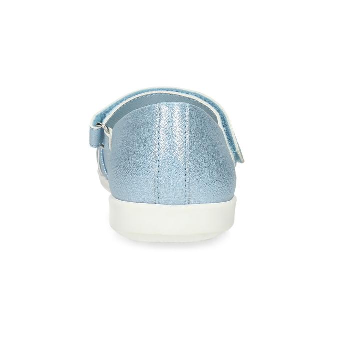 Modré detské baleríny s ozdobnými remienkami mini-b, modrá, 321-9640 - 15