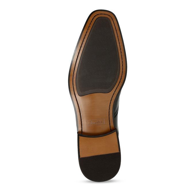 Pánske čierne kožené Oxford poltopánky bata, čierna, 824-6878 - 18
