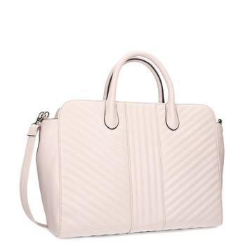 Béžová dámska kabelka s prešitím bata-red-label, ružová, 961-5950 - 13