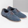 Modré pánske poltopánky z brúsenej kože bata, modrá, 823-9652 - 26