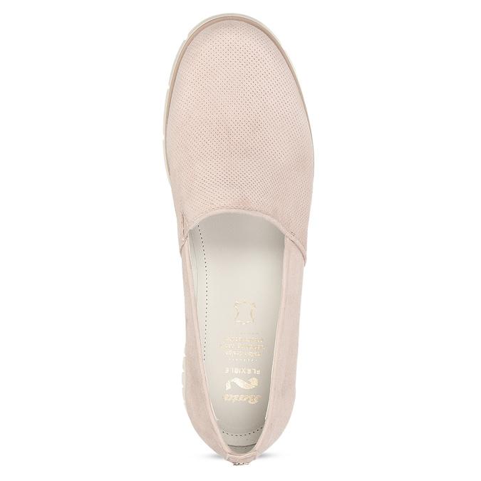 Kožené dámske mokasíny ružové flexible, ružová, 513-5609 - 17