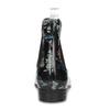 Dámske členkové gumáky s kvetinovým vzorom bata, čierna, 592-6610 - 15