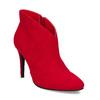 Červené dámske členkové čižmy na podpätku bata-red-label, červená, 799-5646 - 13