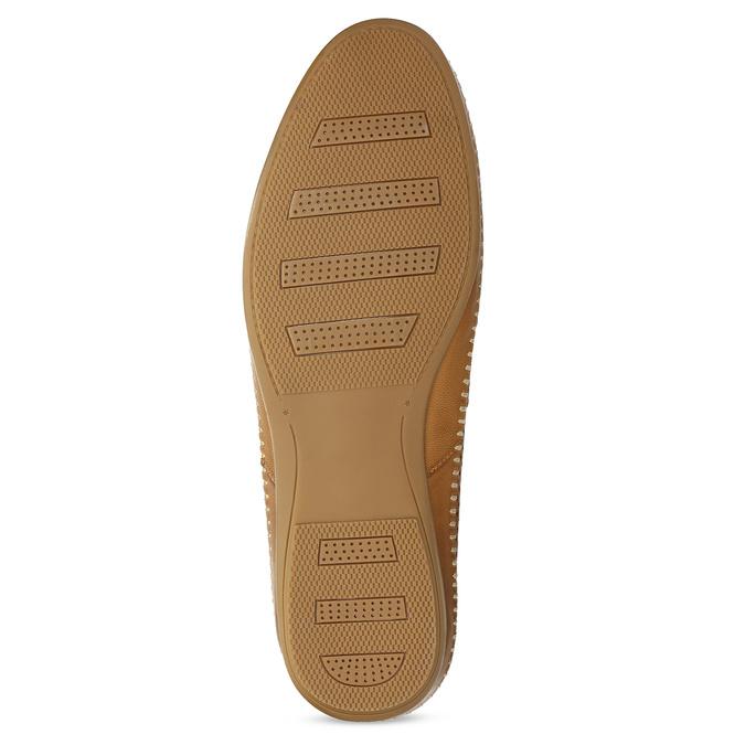 Kožené hnedé pánske Loafers bata, hnedá, 836-3627 - 18