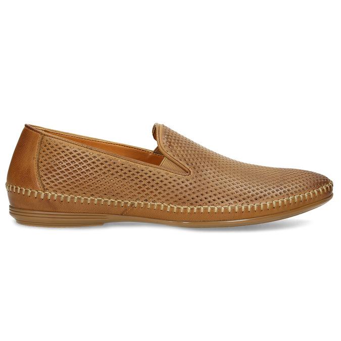 Kožené hnedé pánske Loafers bata, hnedá, 836-3627 - 19