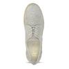 Dámske kožené poltopánky s perforáciou flexible, šedá, 523-2605 - 17