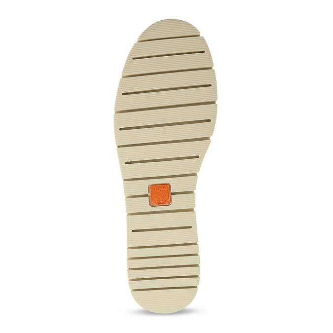 Dámske kožené poltopánky s perforáciou flexible, šedá, 523-2605 - 18
