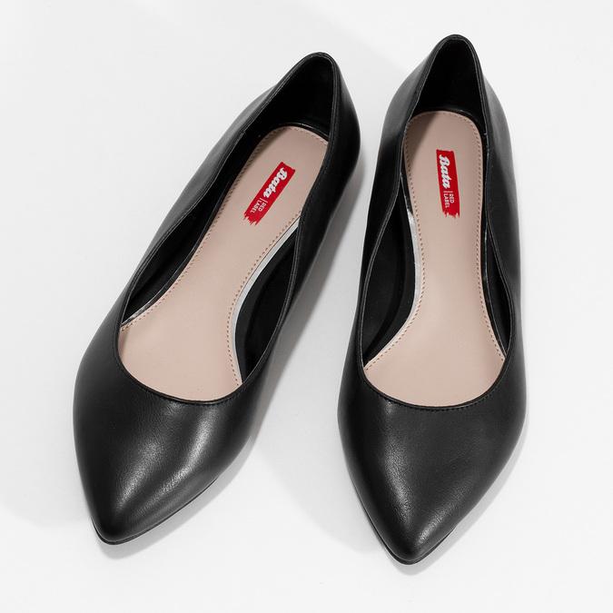 Čierne baleríny do špičky bata-red-label, čierna, 521-6644 - 16