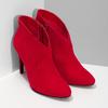 Červené dámske členkové čižmy na podpätku bata-red-label, červená, 799-5646 - 26