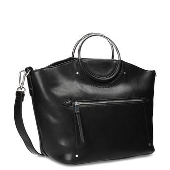 Dámska čierna kabelka s kovovými rúčkami bata, čierna, 961-6934 - 13