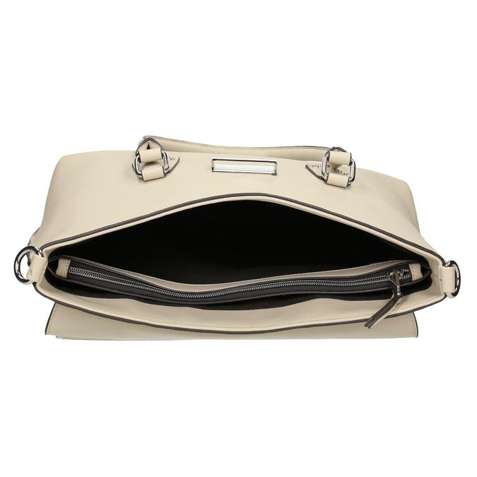 Béžová kabelka s kovovým zapínaním a popruhom bata, béžová, 961-8963 - 15