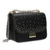 Čierna Crossbody kabelka s kovovými cvočkami bata, čierna, 961-6928 - 13