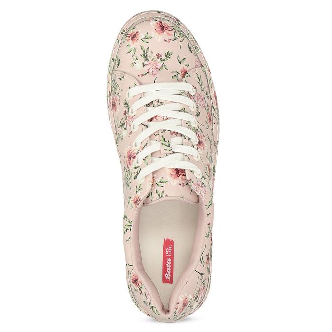 Kvetované dámske tenisky ružové bata-red-label, ružová, 541-5606 - 17