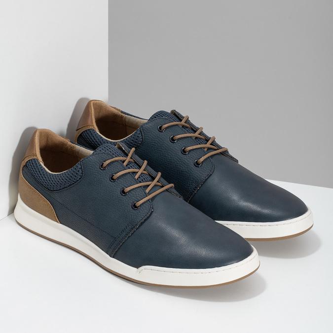 Tmavomodré ležérne tenisky bata-red-label, modrá, 841-9606 - 26