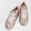 Kvetované dámske tenisky ružové bata-red-label, ružová, 541-5606 - 16