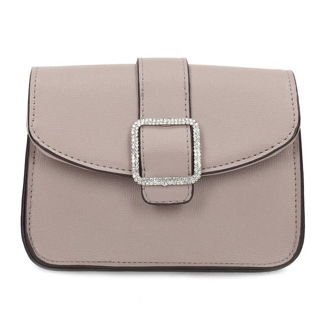 Béžová Crossbody kabelka s ozdobnou sponou bata, béžová, 961-5955 - 26