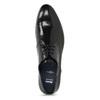Čierne kožené Derby poltopánky s perforáciou bata, čierna, 824-6833 - 17