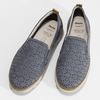 Dámska kožená Slip-on obuv s perforáciou comfit, modrá, 516-9614 - 16
