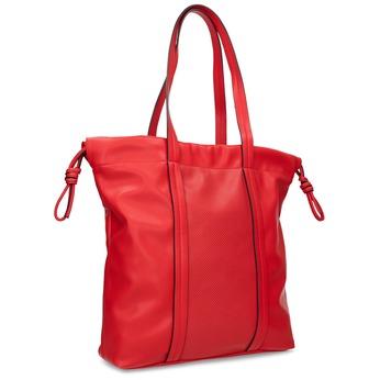 Červená kabelka v štýle Shopper Bag bata, červená, 961-5933 - 13
