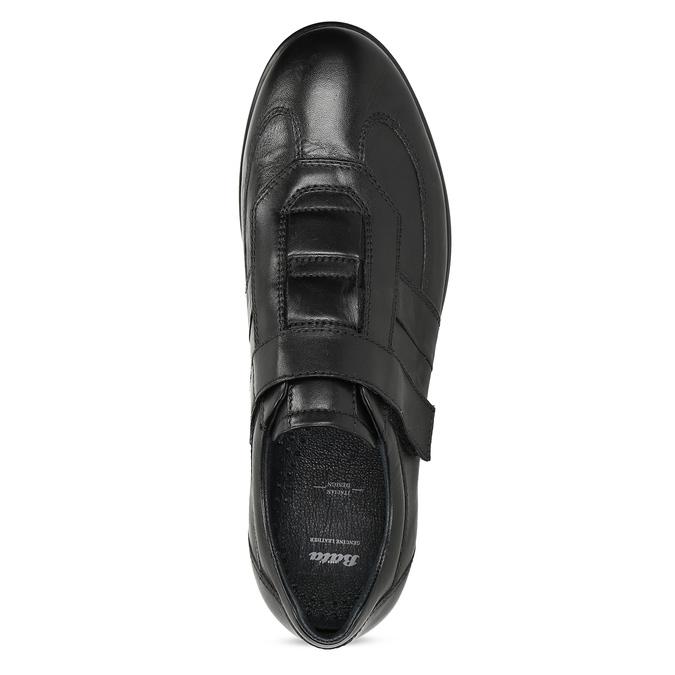 Pánska kožená obuv na suchý zips bata, čierna, 824-6666 - 17
