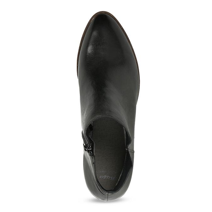 Čierne kožené členkové čižmy bata, čierna, 526-6666 - 17