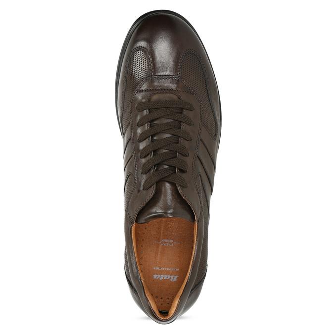 Kožené hnedé pánske tenisky bata, hnedá, 826-4686 - 17
