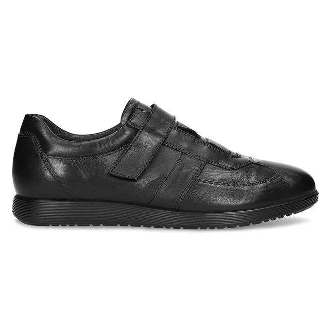 Pánska kožená obuv na suchý zips bata, čierna, 824-6666 - 19