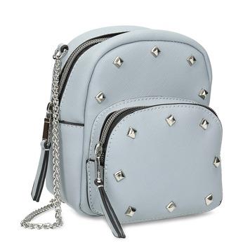 Modrá Crossbody kabelka s kovovými cvočkami bata, modrá, 961-9965 - 13