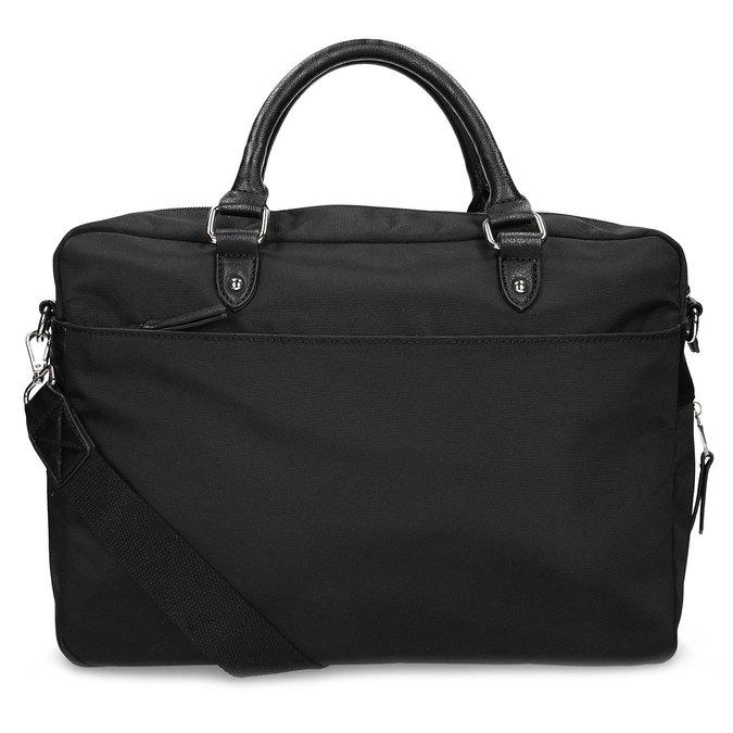 Pánska čierna taška s popruhom bata, čierna, 969-6950 - 16