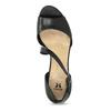 Kožené čierne sandále s asymetrickým remienkom insolia, čierna, 764-6600 - 17