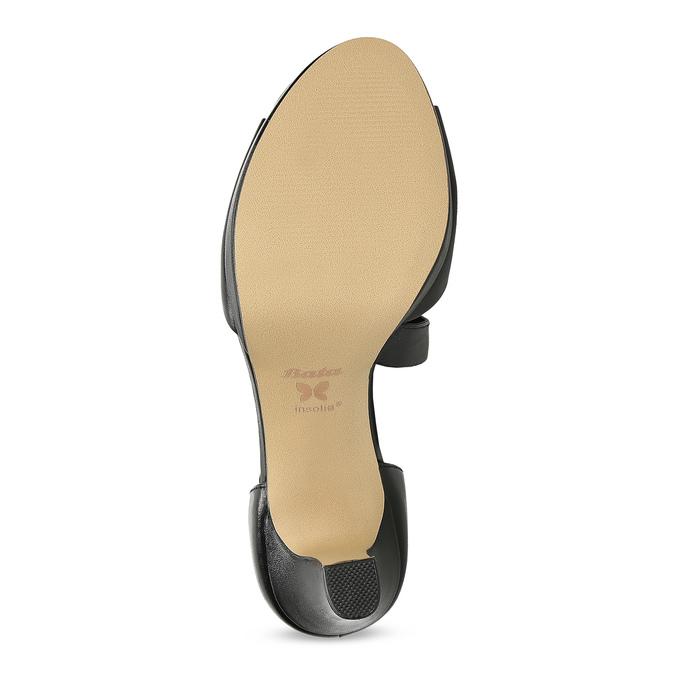 Kožené čierne sandále s asymetrickým remienkom insolia, čierna, 764-6600 - 18
