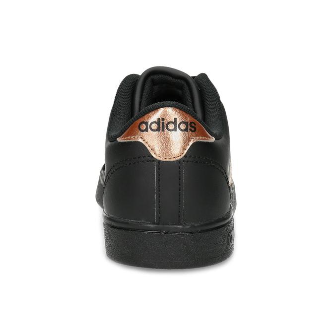 Čierno-zlaté detské tenisky adidas, čierna, 401-6164 - 15