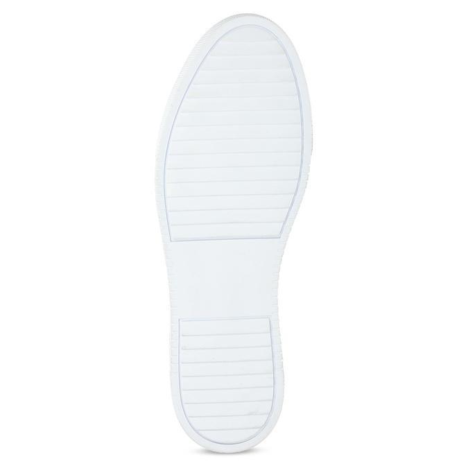 Biele kožené pánske tenisky bata, biela, 844-1649 - 18