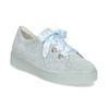 Kožené tenisky s mašľou modré bata, modrá, 543-9600 - 13