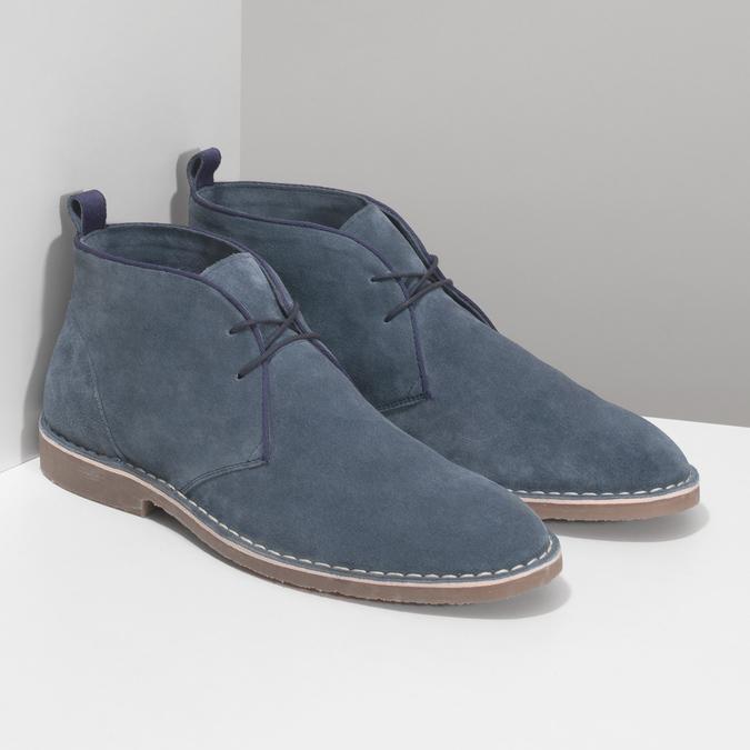 Pánske kožené Desert Boots modré bata, modrá, 823-9655 - 26