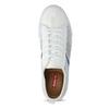 Bielo-modré priedušné tenisky bata-red-label, biela, 849-1601 - 17