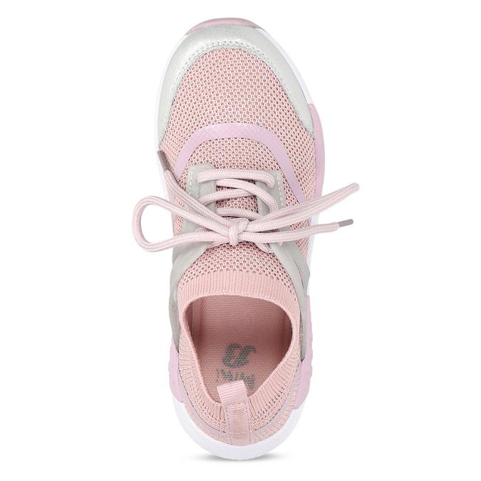 Ružové detské tenisky v pletenom dizajne mini-b, ružová, 329-5282 - 17
