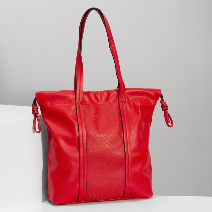 Červená kabelka v štýle Shopper Bag bata, červená, 961-5933 - 17