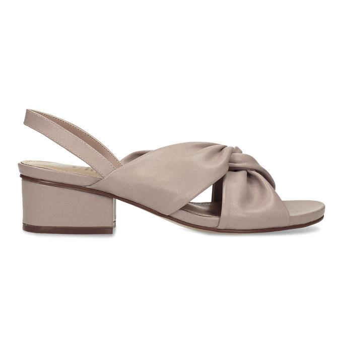Dámske béžové sandále na nízkom podpätku insolia, béžová, 661-8621 - 19