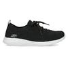 Čierne dámske tenisky v pletenom štýle skechers, čierna, 509-6105 - 19