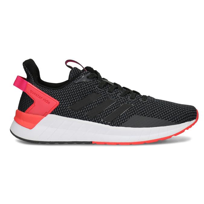 Čierne dámske tenisky s červenými detailami adidas, čierna, 509-2129 - 19
