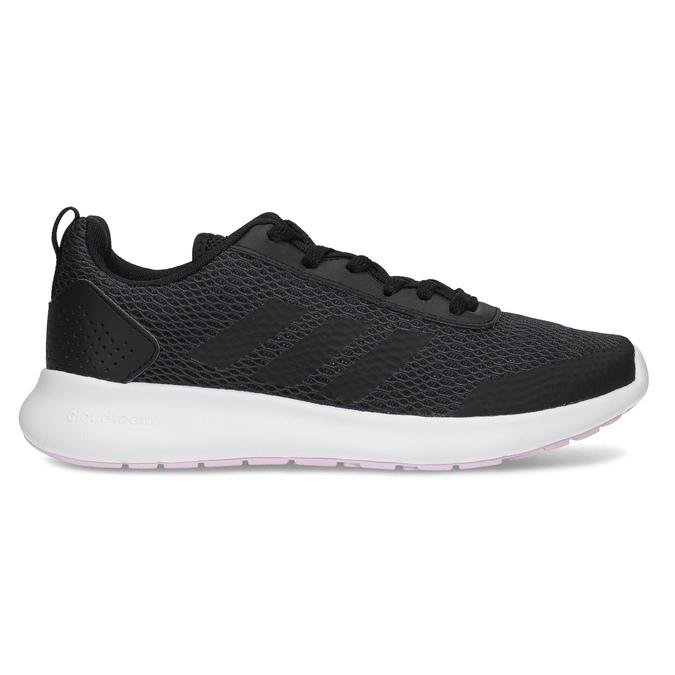 Dámske čierne tenisky s bielou podrážkou adidas, čierna, 509-6102 - 19