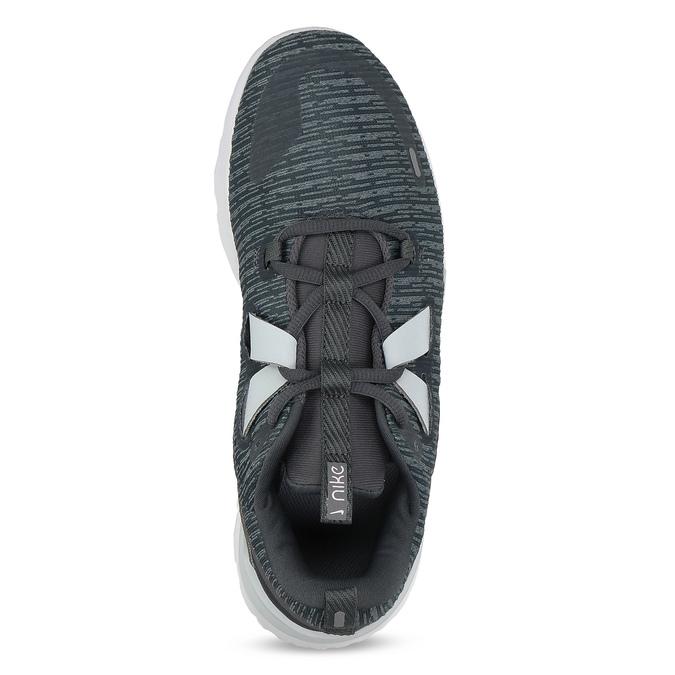 Dámske tenisky so žíháním a bielou podrážkou nike, šedá, 509-2112 - 17