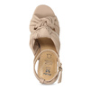Dámske telové sandále na stabilnom podpätku insolia, ružová, 761-8643 - 17