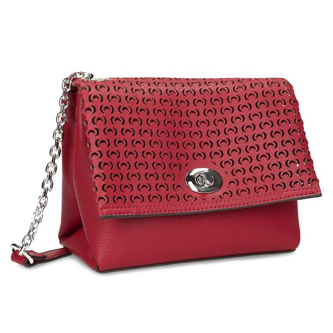 Červená Crossbody kabelka s perforáciou bata, červená, 961-5941 - 13