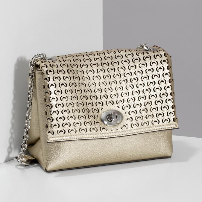 Zlatá dámska Crossbody kabelka s perforáciou bata, zlatá, 961-8941 - 17