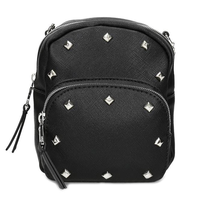 Čierna Crossbody kabelka s retiazkou a s cvočkami bata, čierna, 961-6965 - 26