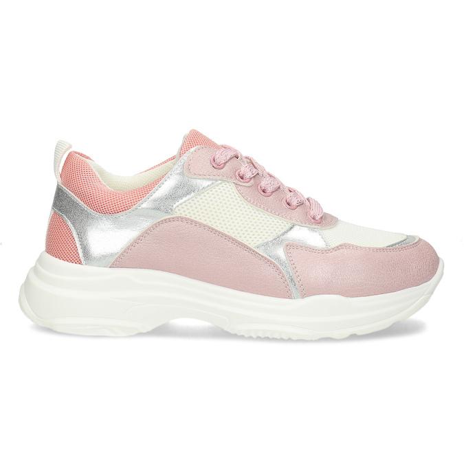 Dievčenské detské tenisky strieborno-ružové mini-b, ružová, 321-5684 - 19