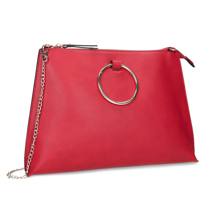 18e7f07287 Bata Red Label Minimalistická červená listová kabelka s retiazkou ...